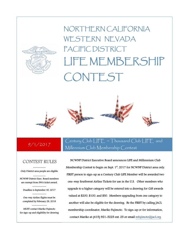Century Club LIFE  ~ Thousand Club LIFE  and Millennium Club Membership Contest